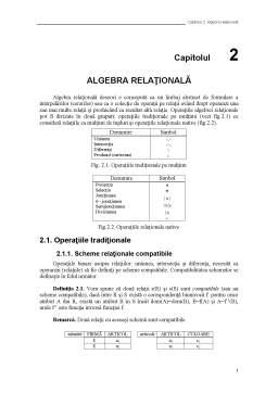 Curs - Algebra Relațională