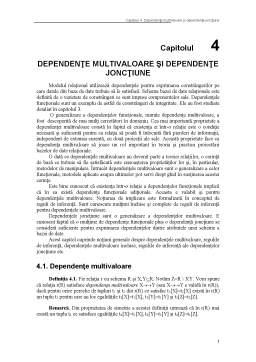 Curs - Dependente Multivaloare, Jonctiune