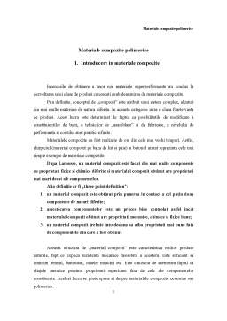 Referat - Materiale Compozite Polimerice