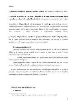 Referat - Obligatia Fiscala - Notiune, Forme, Principii