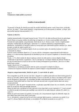 Curs - Comunicare,Relatii Publice și Protocol