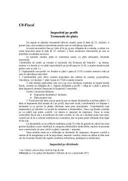 Curs - Drept Fiscal - C8