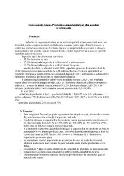 Referat - Ingrasaminte Chimice - Productie Consum Tendinte pe Plan Mondial si in Romania