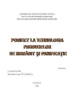 Proiect - Tehnologia Produselor de Morarit si Panificatie - Fabrica de Paine