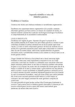 Referat - Aspectele Stiintifice si Etice ale Sfaturilor Genetice