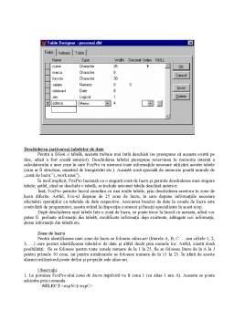 Curs - Informatica - Cursuri pentru Fox Pro