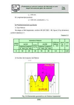 Proiect - Proiectarea și Calculul Costului de Fabricație al unei Mașini de Executat Găuri de Centrare