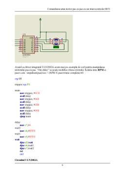 Proiect - Comandarea unui Motor Pas cu Pas cu un Microcontroler 8051