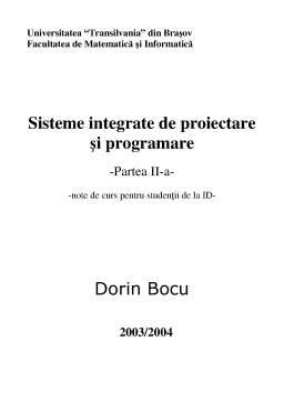 Curs - Sisteme Integrate de Proiectare și Programare