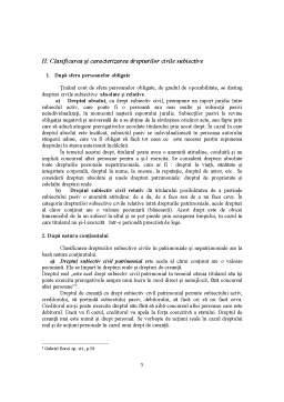 Referat - Drepturile Subiective Civile, Elemente ale Continutului Raportului Civil