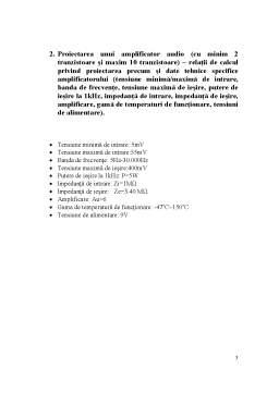 Proiect - Proiectare Asistata de Calculator - Amplificator Audio