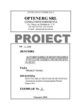 Proiect - Automatizarea ai Monitorizarea Punctelor Termice din Municipiul Ploiesti