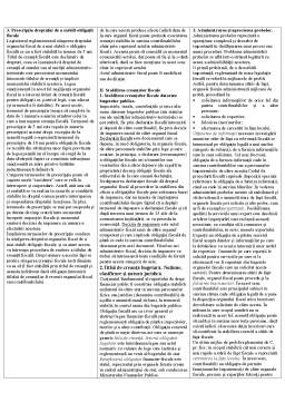 Notiță - Drept Financiar