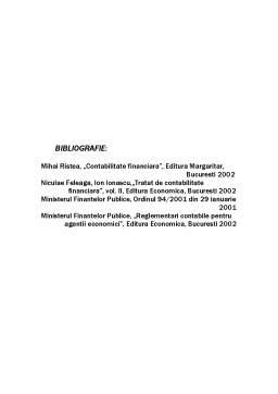 Proiect - Lucrările de Închidere a Exercițiului Financiar