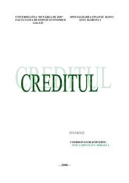 Referat - Creditul