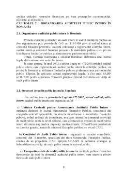 Referat - Organizarea Auditului Intern