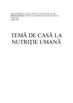 Referat - Nutritie Umana - Caracteristicile Nutritionale ale Legumelor