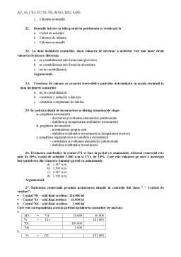 Notiță - Modele Teste Licenta Bazele Contabilitatii