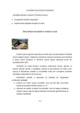 Referat - Dezvoltarea Durabila - Strategii - Politici de Mediu