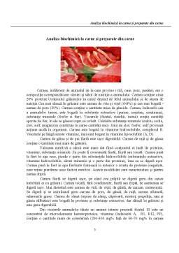 Referat - Analiza Biochimică la Carne și Preparate din Carne