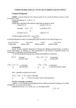 Curs - Compuși Organici cu Funcțiuni Simple și Multiple