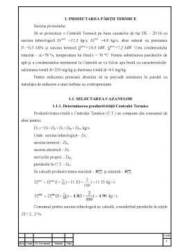 Proiect - Calcularea Procesului Termic și Gazodinamic al Cazanului DE-20-14