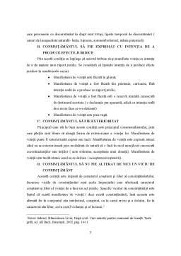 Referat - Consimtamantul Partilor la Incheierea Actului Juridic Civil