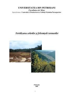 Curs - Fertilizarea Solurilor și Folosințele Terenurilor