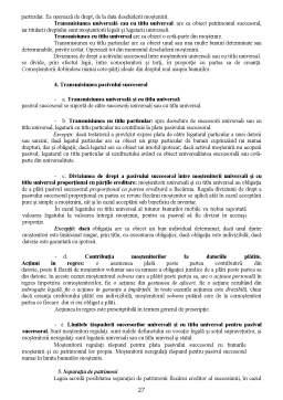 Curs - Elemente de Drept Succesoral