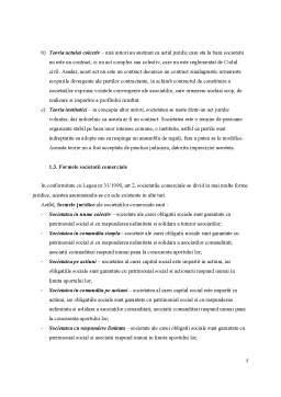 Proiect - Contractul de Societate