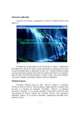 Proiect - Organizarea Activitatitii intr-o Bursa de Valori