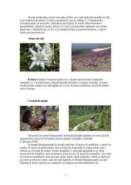 Proiect - Turism Rural - Parcul Natural Muntii Maramuresului