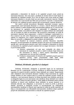 Proiect - Prezentarea, Recunoasterea si Evaluarea Instrumentelor Financiare – Aspecte Detaliate ale Standardelor IAS 32 si IAS 39