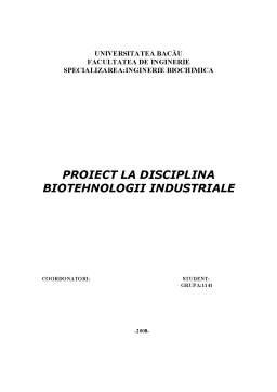 Proiect - Sectie de Prelucrare a Laptelui, in Vederea Obtinerii de Cascaval Dalia