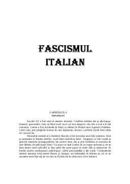 Referat - Fascismul Italian