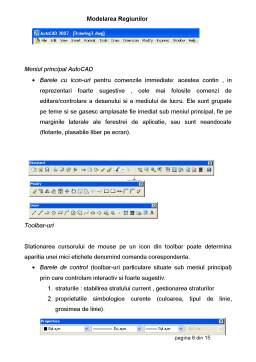 Curs - Modelarea Regiunilor - Proiectare Asista de Calculator - AutoCad