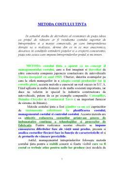 Curs - Metoda Costului Tinta
