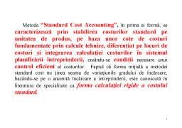 Curs - Metoda Standard - Cost