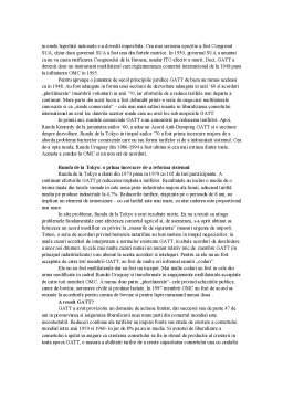 Curs - Organizatia Mondiala a Comertului - Capitolul 1