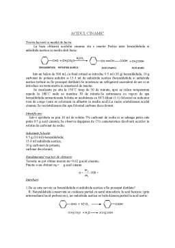 Laborator - Acidul Cinamic