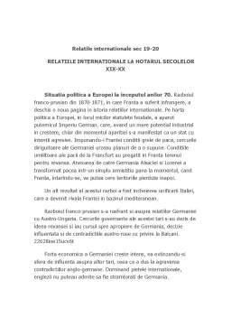 Curs - Relatii Internationale Secolul 19-20