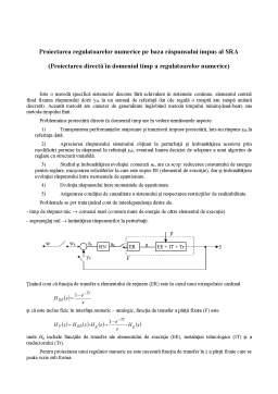 Curs - Proiectarea Regulatoarelor Numerice pe Baza Răspunsului Impus al SRA