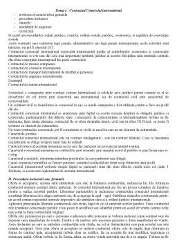 Curs - Tema 4 - Contractul Comercial International