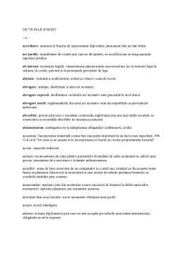 Seminar - Dictionar Juridic