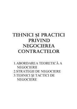 Referat - Tehnici și Practici Privind Negocierea Contractelor