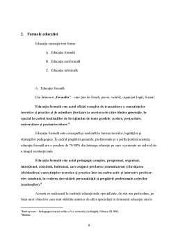 Referat - Formele si Laturile Educatiei