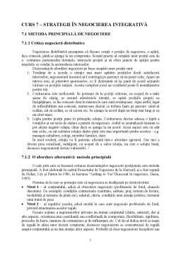 Curs - Curs 7 - Strategii în Negocierea Integrativă