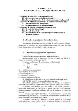 Proiect - Contabilitatea Circulatiei Costurilor Studiu