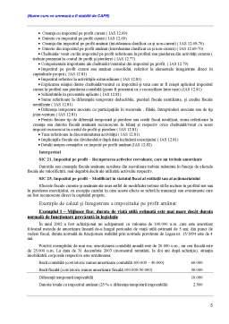 Curs - Standardul International de Contabilitate Nr 12 (IAS 12) – Impozitul pe Profit