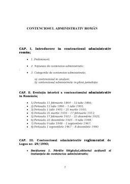 Proiect - Contenciosul Administrativ Român